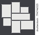 blank mailing postal sticker... | Shutterstock .eps vector #794746525