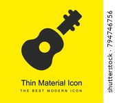 acoustic guitar bright yellow...
