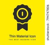 insignia bright yellow material ...