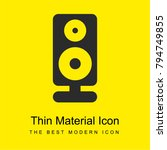 speaker bright yellow material...