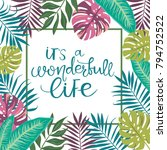 tropical card for invitation ... | Shutterstock .eps vector #794752522
