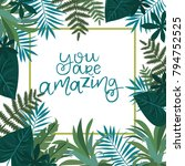 tropical card for invitation ...   Shutterstock .eps vector #794752525