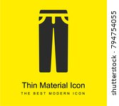 trousers bright yellow material ...