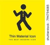 dancing man bright yellow...