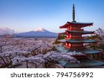 japan beautiful landscape... | Shutterstock . vector #794756992