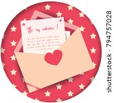 love letter invitation card... | Shutterstock .eps vector #794757028