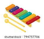 Flat Vector Colorful Xylophone...