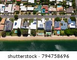 solar panels on suburban... | Shutterstock . vector #794758696