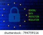 gdpr   general data protection... | Shutterstock .eps vector #794759116