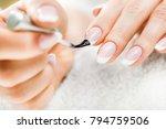 beautiful manicure nails paint. ... | Shutterstock . vector #794759506