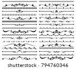vector illustration. set of... | Shutterstock .eps vector #794760346