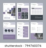 business company profile ... | Shutterstock .eps vector #794760376