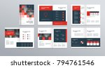 template layout design with... | Shutterstock .eps vector #794761546