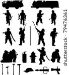 firefighter booster pack 1 ... | Shutterstock .eps vector #79476361