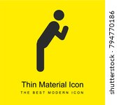 leaning man bright yellow...   Shutterstock .eps vector #794770186
