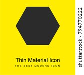 hexagon bright yellow material...