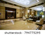 luxury lobby interior. | Shutterstock . vector #794775295