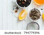 medical tea crops variation on... | Shutterstock . vector #794779396