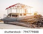 steel rebar for reinforcement... | Shutterstock . vector #794779888