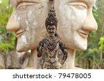 buddhist statue standing over... | Shutterstock . vector #79478005