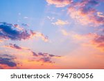 abstract sunset sky with clouds ... | Shutterstock . vector #794780056