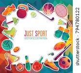 color sport background.... | Shutterstock .eps vector #794780122