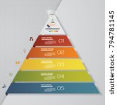 5 steps pyramid with free space ... | Shutterstock .eps vector #794781145