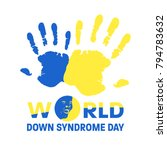 world down syndrome day with... | Shutterstock .eps vector #794783632