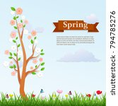 spring season background ... | Shutterstock .eps vector #794785276