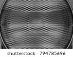 black steel grating of... | Shutterstock . vector #794785696