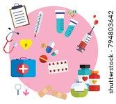 medical icons  flat medical... | Shutterstock .eps vector #794803642