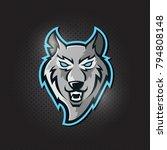 furious wolf sport  logo... | Shutterstock .eps vector #794808148