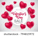 valentines day sale  discount... | Shutterstock .eps vector #794815972