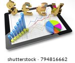 currency symbols and charts on... | Shutterstock . vector #794816662