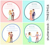 happy newlywed couples composed ... | Shutterstock .eps vector #794819416