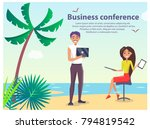 business conference  poster... | Shutterstock .eps vector #794819542