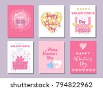 happy  valentine's day ... | Shutterstock .eps vector #794822962