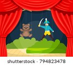 Children's Puppet Theater With...