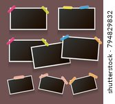 set of vintage photo frame with ... | Shutterstock .eps vector #794829832