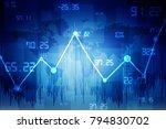2d rendering stock market... | Shutterstock . vector #794830702