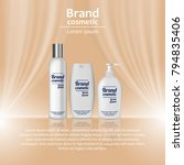 3d realistic cosmetic bottle... | Shutterstock .eps vector #794835406