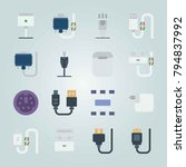 icon set about connectors... | Shutterstock .eps vector #794837992