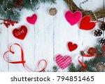 valentine's day background ... | Shutterstock . vector #794851465