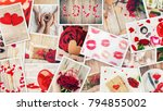 collage of love and romance.... | Shutterstock . vector #794855002