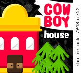 city buildings. cowboy house ... | Shutterstock .eps vector #794855752