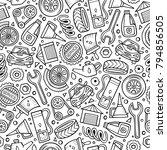 cartoon cute hand drawn...   Shutterstock .eps vector #794856505