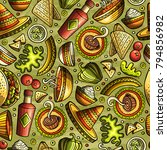cartoon hand drawn latin... | Shutterstock .eps vector #794856982