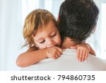 little girl resting on her... | Shutterstock . vector #794860735
