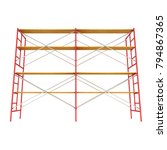 scaffolding metal construction...   Shutterstock . vector #794867365