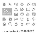security outline web icon set.... | Shutterstock .eps vector #794870326